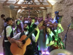 wedding band at caswell house