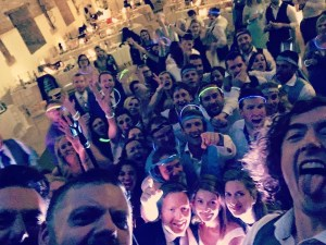 wedding band selfie in hampshire