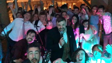wedding band selfie in essex
