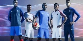Maillots et Tenues Equipe de France pour l'Euro 2016