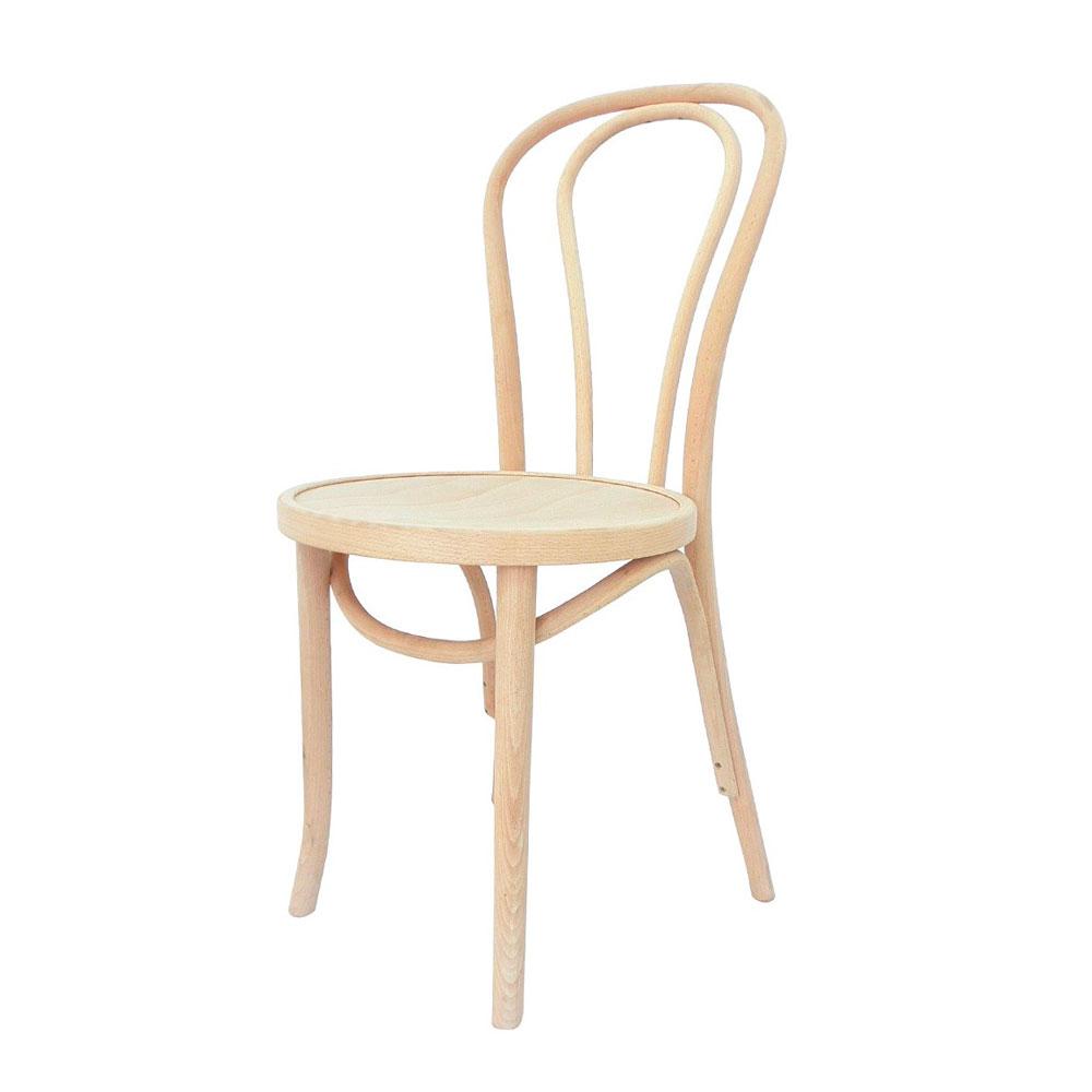 thonet unpainted chaise en bois de chene naturel style thonet