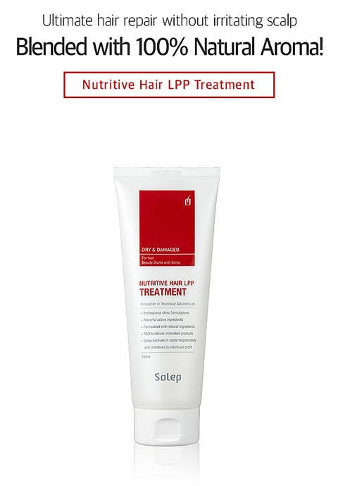 LPP treatment and conditioning for damaged hair