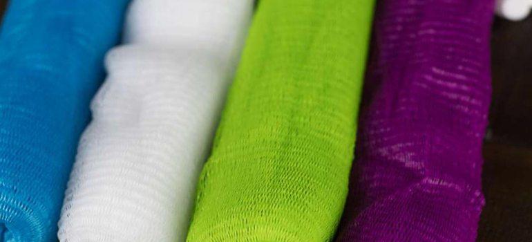 organic soap accessories nylon sack