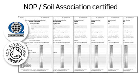NOP / Soil Association Certificate