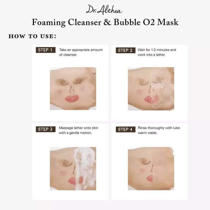 Foaming Cleanser & Bubble O2 Mask how to use