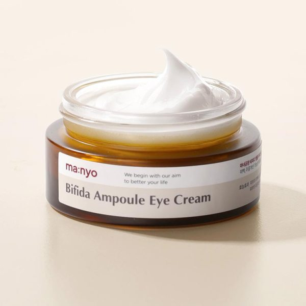 ma:nyo bifidalacto eye cream 5-peptide complex to firm skin around eyes