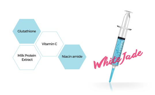 Brightening ingredients: Glutathione, Vitamin C, Milk Protein Extract, Niacinamide