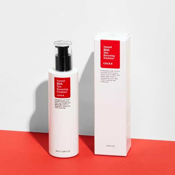 COSRX Natural BHA Skin Returning Emulsion photos before and after