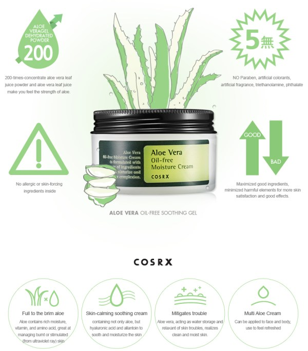 how to use aloe vera cream cosrx