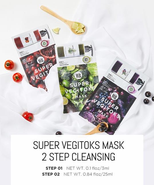 Super Vegitoks Mask Pack 2 step cleansing set