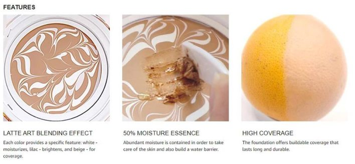 Features of the Dr.Althea Double Serum Balm Foundation