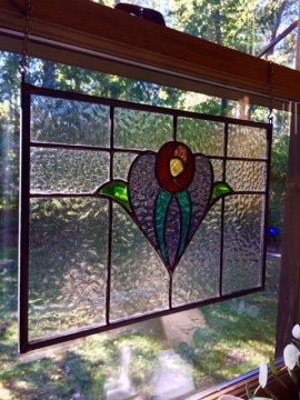 Stained glass window by Grey Goose Farm Art