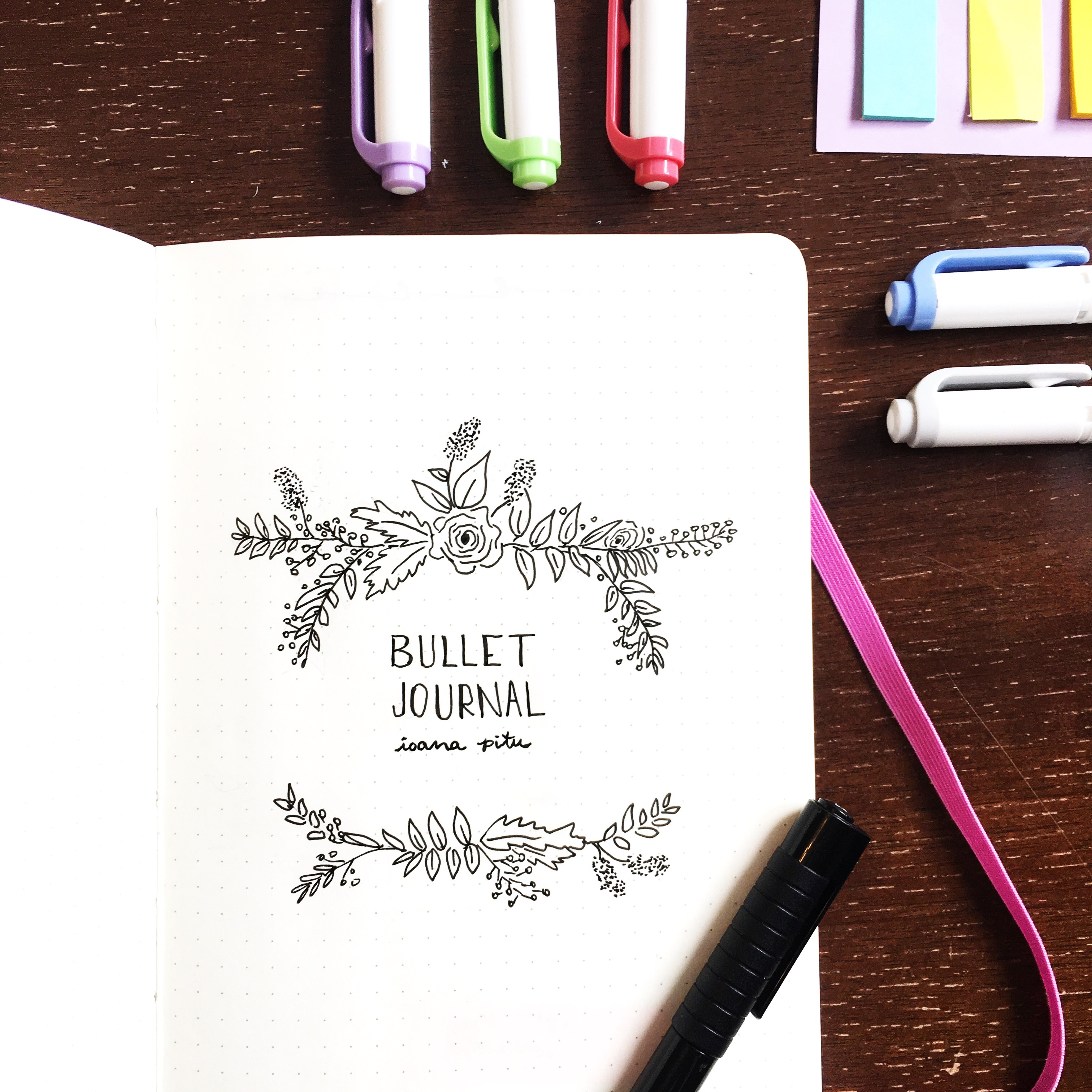New Bullet Journal Cover Page
