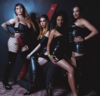 Rainha Vivi, Mistress Charlotte, Domme Elis e Rayssa Garcia