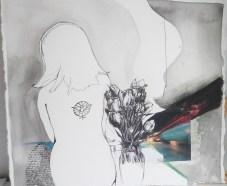 Fleeting; Mixed Media painting by Amanda K Gross