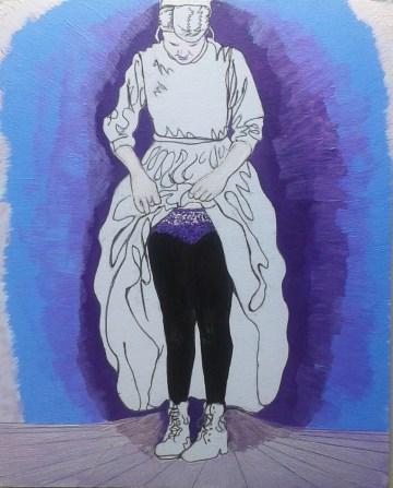 Menno Fabulous 1; acrylic and ink by Amanda K Gross*