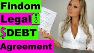 Findom Debt agreement Youtube Video