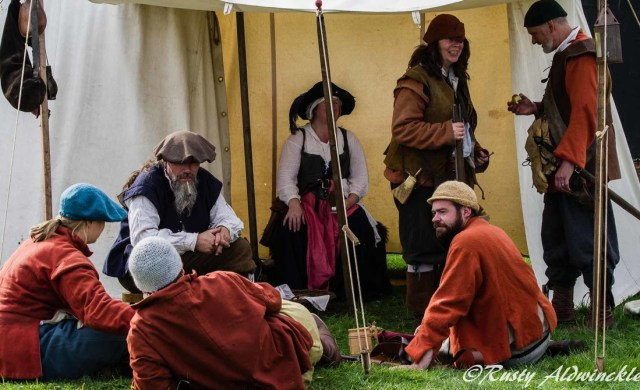 17th Century Soldiers Relaxing