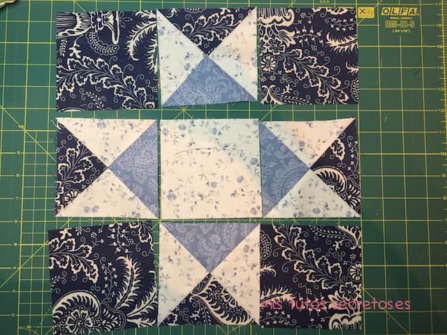 Tutorial Estrella de Ohio en Patchwork 11