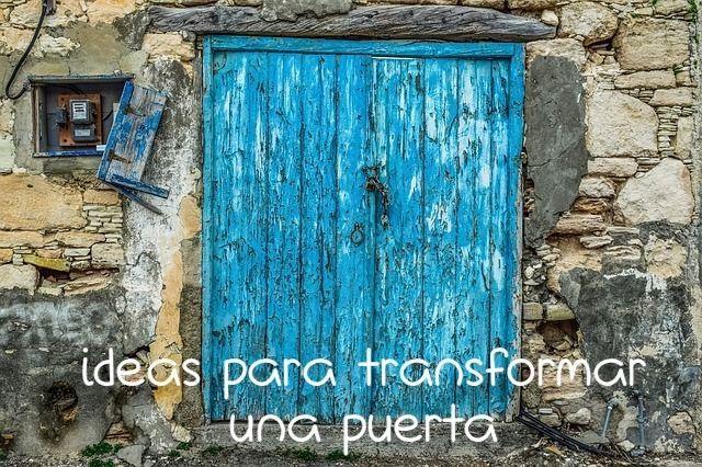Ideas para reciclar una puerta de madera