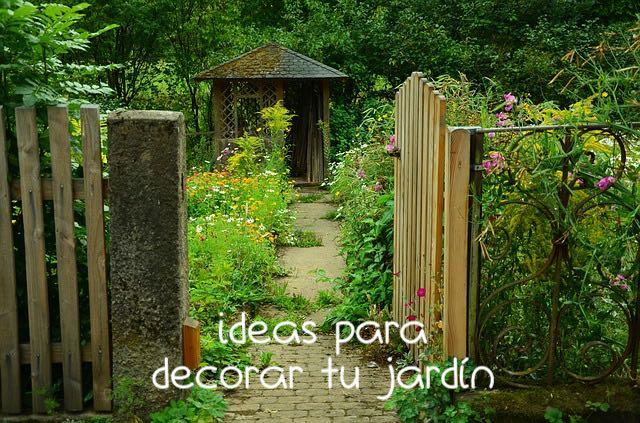 Decora tu jardín con borduras y traviesas
