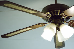 Cleaning your ceiling fans now ensures that you won't spread dust throughout your home come spring.