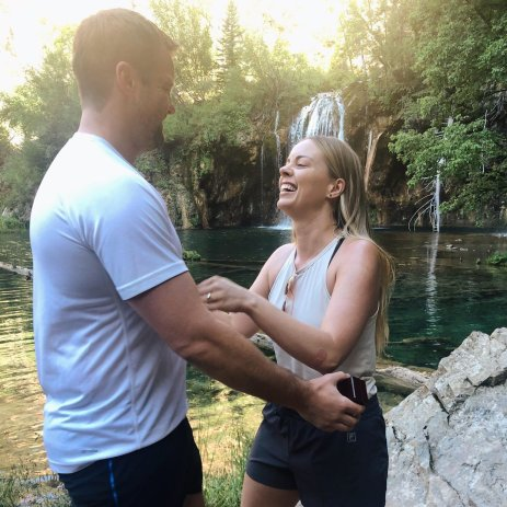 Our engagement story at Hanging Lake Trail Colorado