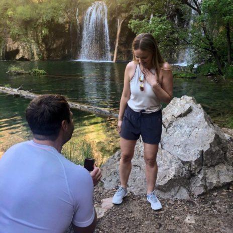 Proposal at Hanging Lake Trail Colorado