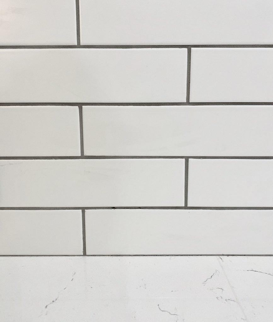 why i picked matte white subway tile
