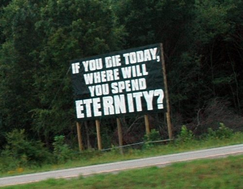 Interstate Sign promoting insanity