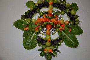 Mandala made from veggis