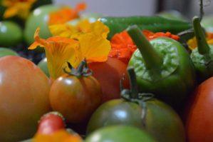 Veggies and flowers