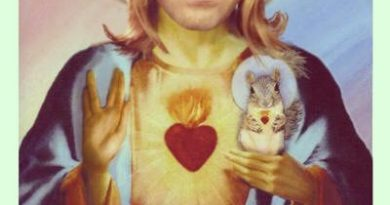 Picture of the Savior holding a squirrel