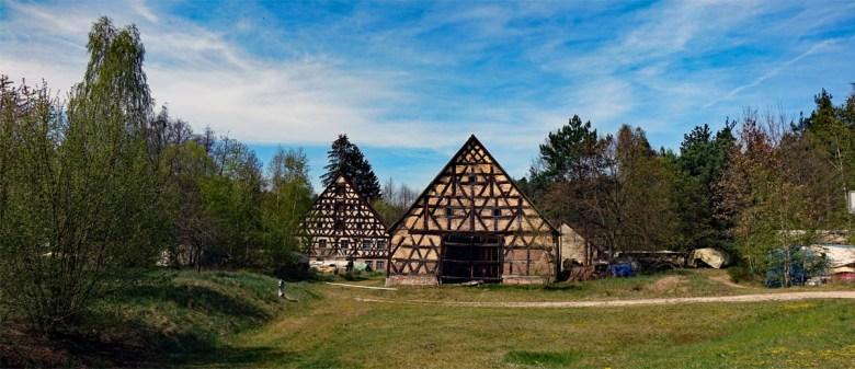 Ehemalige Rothenmühle auf dem Wanderweg Nr. 8 bei Hilpoltstein durch den Eibachgrund
