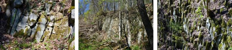 Ehemaliger Basalt-Steinbruch auf dem Gangolfsberg bei Oberelsbach in Unterfranken