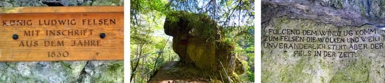 Aussichtspunkt König Ludwig in der Versturzhöhle Riesenburg in der Fränkischen Schweiz Wiesenttal