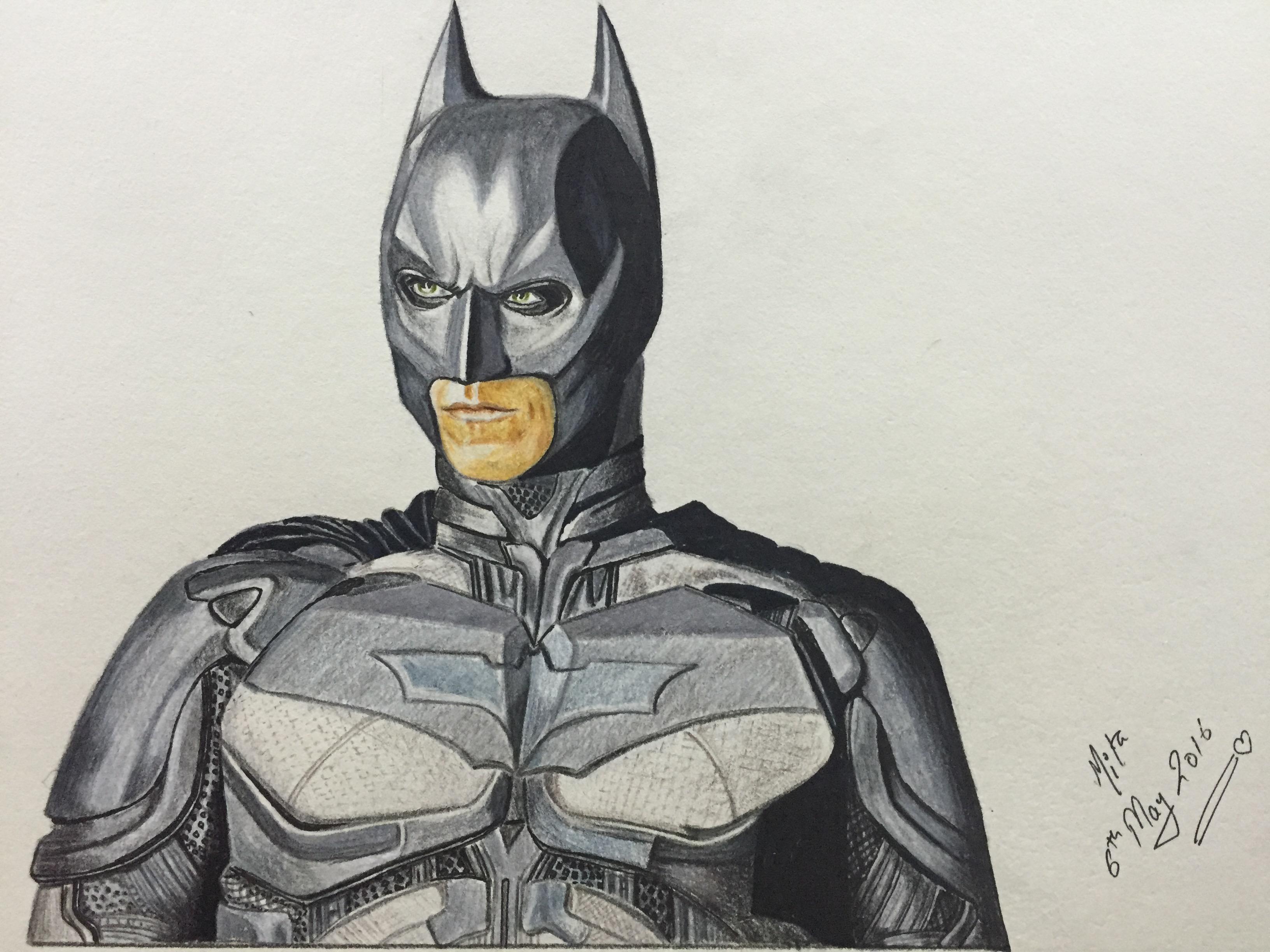 Drawing Realistic Batman : Christian Bale