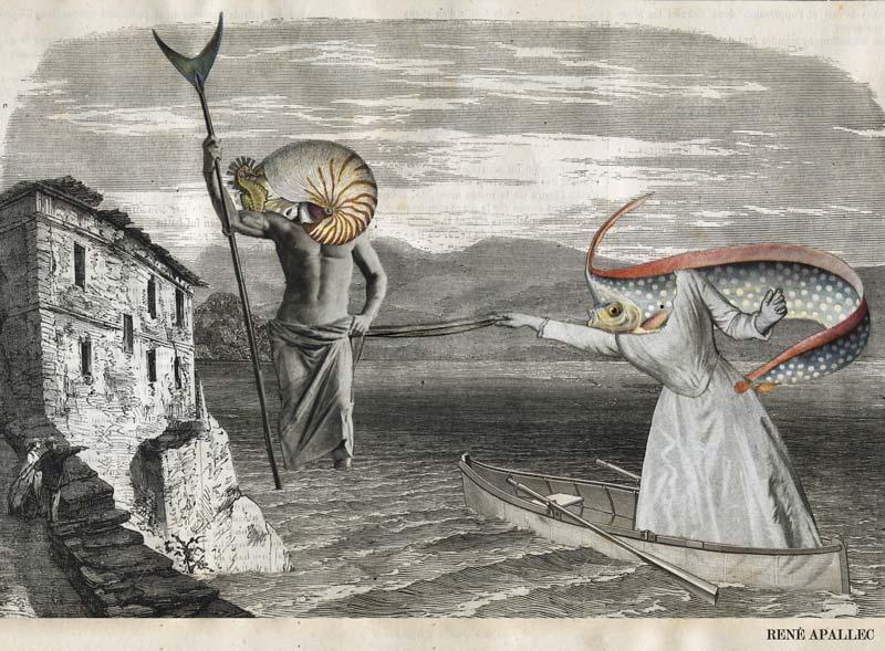 Collage René Apallec - Jeu d'eau