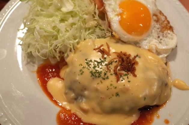 ばんばんざいのチーズフォンデュハンバーグ
