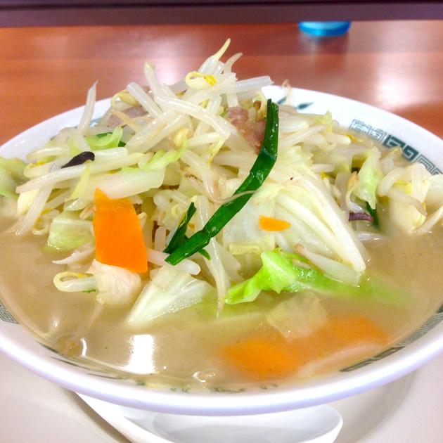 日高屋 田町西口店「野菜たっぷりタンメン 500円」