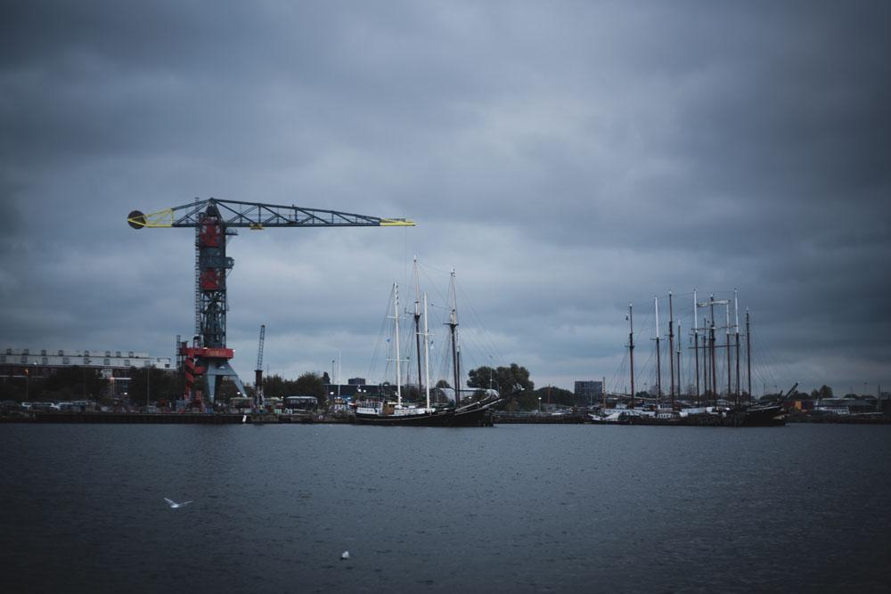 Blick auf die NDSM-Werft