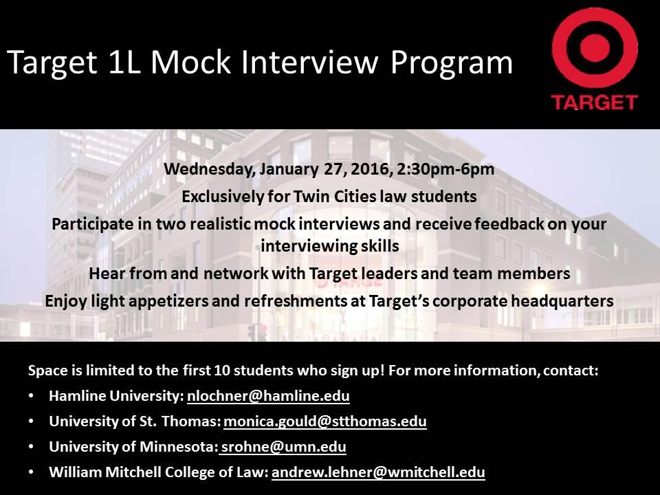 target l mock interview program target l mock interview program target