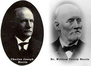 Photo of Charles Joseph and Dr. William Torrey Harris