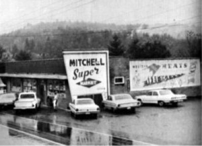 Mitchell Super Market was located on, at the time NC Hwy 226, now Summit Avenue.