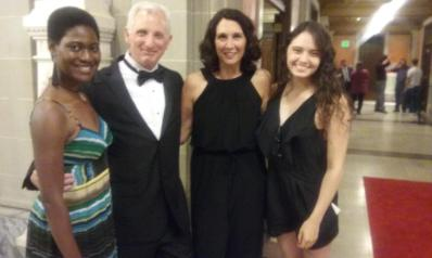 Leading lady Christine Jones and me with two gifted actors (Kearston Hawkins-Johnson [left] and Brandi Botkin [right]) whom we both taught at NKU