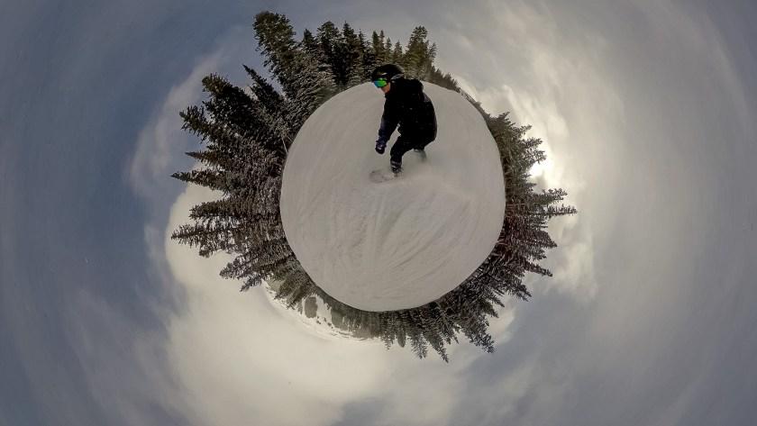 Rylo snowboarding skiing photo