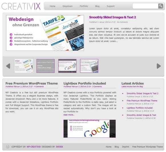 WordPress WP-Creativix