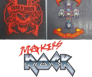 Makers Rock Album Art Collaboration 2018 Guns N Roses Appetite For Destruction