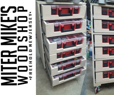 Miter Mike's Milwaukee Jobsite Drawer Organizer Cabinet