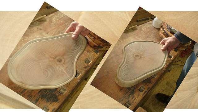 Herstellung Schneidbrett aus Nuss